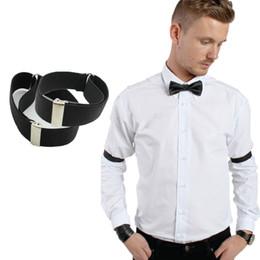 Wholesale 2016 men Shirt Sleeve Holder adjustable Armband Elasticated wedding bridegroom accessory pair