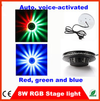 Wholesale 20pcs Fedex free LEDs W Voice activated RGB Colorful Magic LED Light Stage Effect with Sound for DJ Party Disco Bar Lighting Equipment