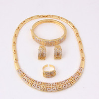 african jewelry - 2014 New arrive african costume jewelry set vintage jewelry gold necklace fashion rhinestone gold plated jewelry sets