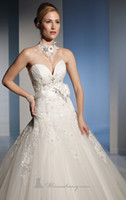 Wholesale Hot Sale A Line Wedding Dresses High Quality Sweetheart Lace up Floor Length Watteau Net Applique Beaded Pleats Crystal Bridal Gowns
