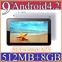 Wholesale 50PCS NEW inch Dual camera core Android Tablet PC MB GB GHz Allwinner A23 Bluetooth Ebook Reader PB09