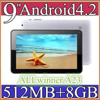 Wholesale 5PCS NEW inch Dual camera core Android Tablet PC MB GB GHz Allwinner A23 Bluetooth Ebook Reader PB09