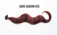 Cheap Indian Hair HUMAN HAIR EXTENSIONS Best DARK Auburn #33 Body Wave U TIPS