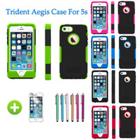 6 Colors Trident Aegis Case For Apple iPhone 5S 5 Hybrid Rug...