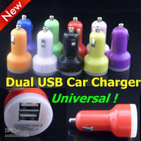 Wholesale Dual Port USB Car Charger Colorful Micro USB Car Charge mAh USB Adapter For Iphone Iphone Plus Samsung Galaxy S5 Note Note3