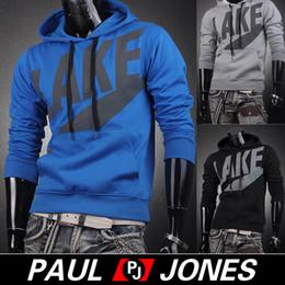Wholesale PJ Men s Casual Sports Winter Warm Hooded Outwear Hoodies Size XS L CL5237