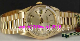 Wholesale Factory Seller Luxury Mens mm Men s kt Gold PRESIDENT Champagne Stick Dial SANT BLANC Automatic High Quality Men s Watches