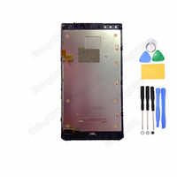 Wholesale 100 New LCD Display Screen Touch Digitizer frame for Nokia Lumia N920