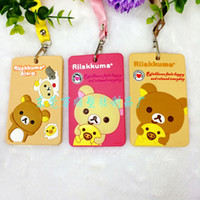 Wholesale WSZZM Rilakkuma card package card package Cartoon toys card set of Creative cartoon bus card sets of silicone card sets factory outlet