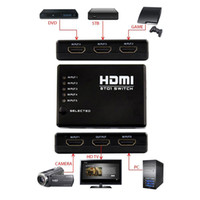 Wholesale S5Q Port P Video HDMI Switch Switcher IR Remote Splitter For HDTV PS3 DVD AAADJT