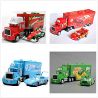 Wholesale New Cars Mack Chick hauler Thai Pixar Car Lightning Hick Truck Toy car Kid color with little car hot sale Great as collection