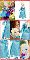baby soft toys wholesale - 2pcs elsa Doll Princess cm Anna Plush Doll Brinquedos Kids Baby Soft Toys Girls Dolls Plush Toys