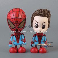 amazing spiderman set - 5sets Marvel Spiderman The Amazing Spider Man Q Version PVC Action Figure Toys Dolls set HRFG196