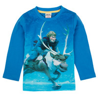 Wholesale nova stock new baby boy clothes cartoon frozen Kristoff and animal reindeer Sven print autumn winter boys long sleeve t shirts A5025Y