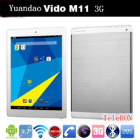 "Under $300 window 9.7 inch tablet 3g built in Yuandao Vido M11 3G Phone Call Tablet PC RK3188 Quad Core 9.7"" IPS Retina 2048x1536 2GB 16GB 8.0MP Camera Android 4.2"