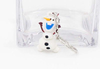 Wholesale Frozen Bag accessories Anime Cartoon Movie Frozen Keychain Set Cute Elsa Anna Olaf Snow Romance Snow treasure Sided key chain