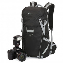 Wholesale Photo Sport AW Black DSLR Daypack Lowepro AW Digital SLR Knapsack Explorer Camera Shoulders Backpack Black w Rain Cover
