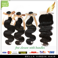 Brazilian Hair Body Wave Body Wave Brazilian Malaysian Peruvian Virgin Human Hair Weft Lace Closure With Bundles Natural Color Body Wave Buy 3 Wefts Get 1 Free Lace Closure