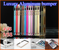 Wholesale Hot sale Luxury MM Slim Metal Aluminum Bumper Frame Cover Case For Apple iPhone S S S3 S4 S5 Note Note