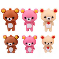 As pictrue bear memories - 5pcs Cute Rilakkuma Bear Cartoon USB Flash Drives Storage GB GB GB GB Memory Stick PenDrives Tin Box