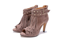 Cheap toe heel shoes sexy Women tassel single shoes Lady cho Pumps high heel ladies dress shoes