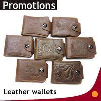Wholesale Mans leather zipper pockets cards holders wallet different pattern print antique purse wallets for men