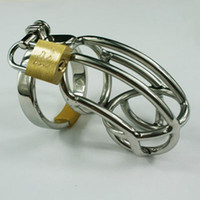 Wholesale The Hottest Chastity Men s Cock Cage Stainless Steel Ring Adult BDSM Sex Product Bondage Master Fetish Chastity Belt Device