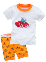 Cheap 2014 New arrive Baby short sleeve cotton pajamas,Kids pyjamas baby sleepwear clothing,boys girls children's summer clothing 6set lot X-4243