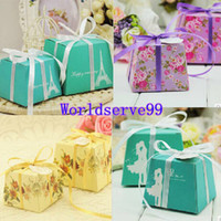 Wholesale Rose Wedding Favors Boxes Sweet Candy Box Favor Holder Gifts Box With Ribbon Styles Party Supply S Size
