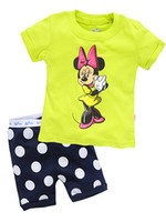 Unisex Summer 2T-3T-4T-5T-6T-7T 2014 New arrive Baby short sleeve cotton pajamas,Kids pyjamas baby sleepwear clothing,boys girls children's summer clothing 6set lot X-4244