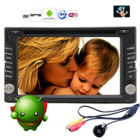 Wholesale 2 DIN Capacitive Android Car DVD Player Radio Stereo Fastest GHZ G WIFI GPS Navigation In Dash PC Head Unit P Bluetooth TV Camera