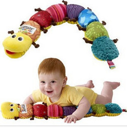 Wholesale Hot sale baby toy lamaze rattles caterpillar toys musical brinquedos plush educational toys