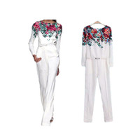 Wholesale S5Q Women Slim Floral Summer Casual Sexy Chiffon Cocktail Party Siamese Clothes jumpsuit AAADJG