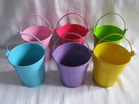 mini bucket - Top Selling mixed colors Originality Mini Wedding Tin Candy Buckets Wedding Favor Metal Buckets Wedding Candy Box Wedding Souvenirs