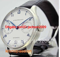 auto nice - Luxury Watch Grdan New Big NEW Men s Big Portuguese day Automatic White Hard to find Stainless Steel Date nice black leather