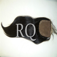 Cheap free shipping!hot sales!Remy queen brazilian virgin remy hair silk base top closure,silk straight,natural color ,part free,dye yourself