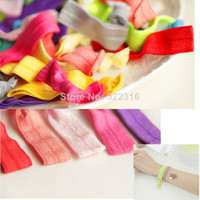 Wholesale 2014 new hollywood star popular mix colors rubber knotted band elastic hair tie rope ring accessories wristbands