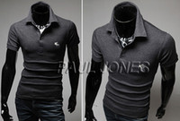 Men Long Sleeve others Grace Karin Luxury Perfect Mens Shirts Collection Plain Superb JS Slim Fit Male Polo PJ 4 Size XS~L CL5322