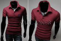Men Long Sleeve others Grace Karin Men Long Sleeve PJ Slim Golf Polo T-shirts Shirt Top Custom JS Dress Superb 4 Size XS~L CL5322