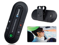 Wholesale 20 DHL New Wireless Bluetooth Handsfree Speakerphone Car Kit With Car Charger Bluetooth Hands free Kit