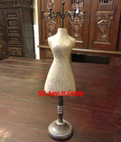 Wholesale Bust Mannequin Necklace Holder Necklaces Pendant Bracelet Display Stand Wooden Jewelry Packaging amp Display