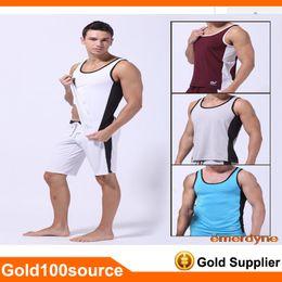 Wholesale Brand Mens Bodybuilding Vest Casual Vest Tank Training Tops Comfortable Man Undershirt Casual Shirts New Sample