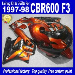 High quality Cheap Fairing kits for 1997 1998 HONDA CBR600F3 CBR600 F3 CBR 600 F3 97 98 fairings kit