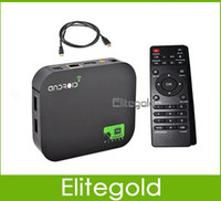 Cheap Hot!! Android 4.2 TV Box A20 Dual Core Mini PC RJ45 USB WiFi XBMC Smart TV Media Player AV Port with Remote Controller 1GB 4GB Flash