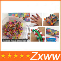 Cheap Hot Sale Glow IN THE DARK 300pcs 12 pcs S Rainbow Loom Bands Kit Bracelet Colorful Rubber Bands Amazing Gift for Children Mix Colors HZ 360