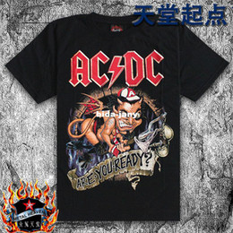 Wholesale-summer t-shirts mens tee top 2014 men's clothing black rock male short-sleeved cotton T-shirt heavy metal rock band ACDC Sydney