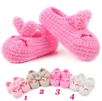 infant winter shoes - Baby infant Winter Soft Sole Toddler Shoes Prewalker First Walker Shoes Socks Handmade Cotton Thread Kitted Cartoon Style CM
