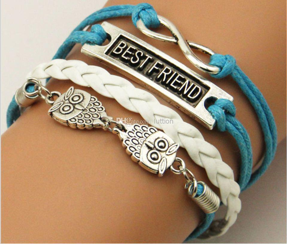 Fashion bracelets summer jewelry owl best friend infinity for Best place to sell jewelry online