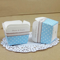 Wholesale Share amp Enjoy Cake Cup Color Dot Paper Cupcake Box Western Dessert Package CK166