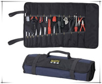 rolling bag - Cheap Rolling Canvas Tool Bag for Electrician Durable Foldable Storage Bag Easy Carrying without tools